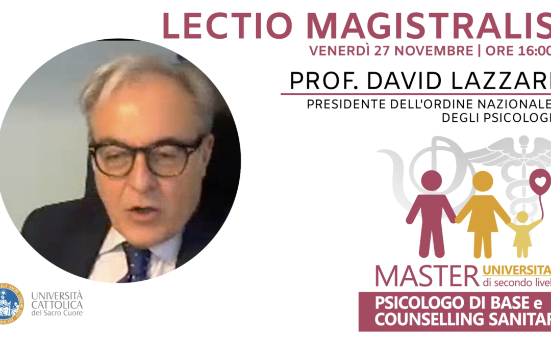 VIDEO. Lectio magistralis di Psicologia sanitaria di David Lazzari