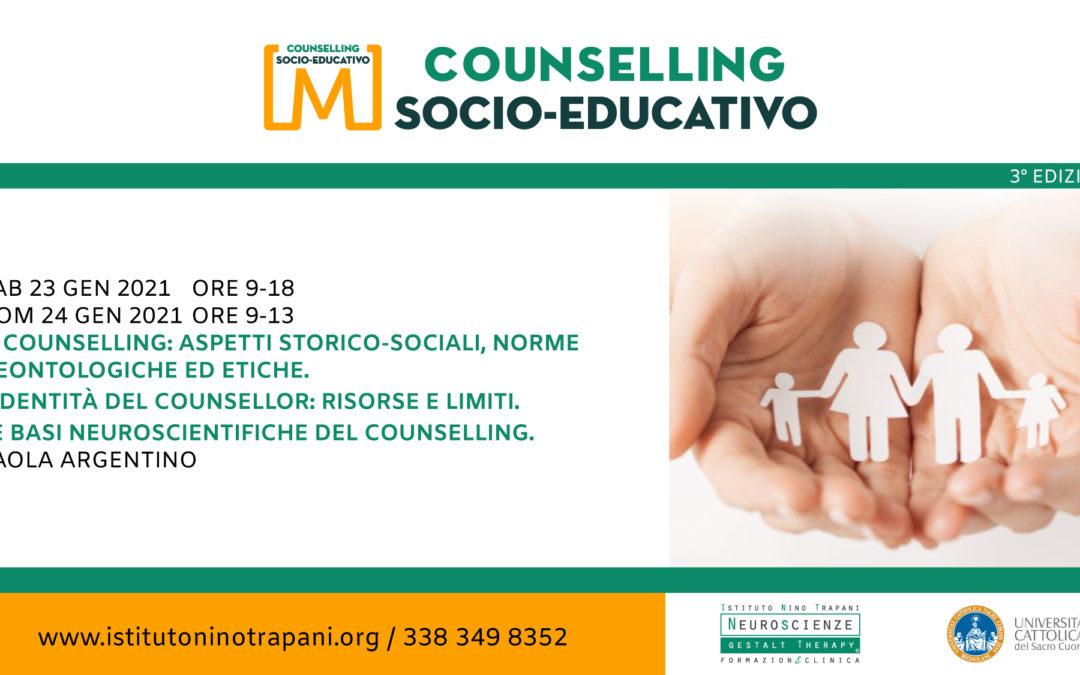 Master in Counselling Socio-Educativo. Primo Modulo