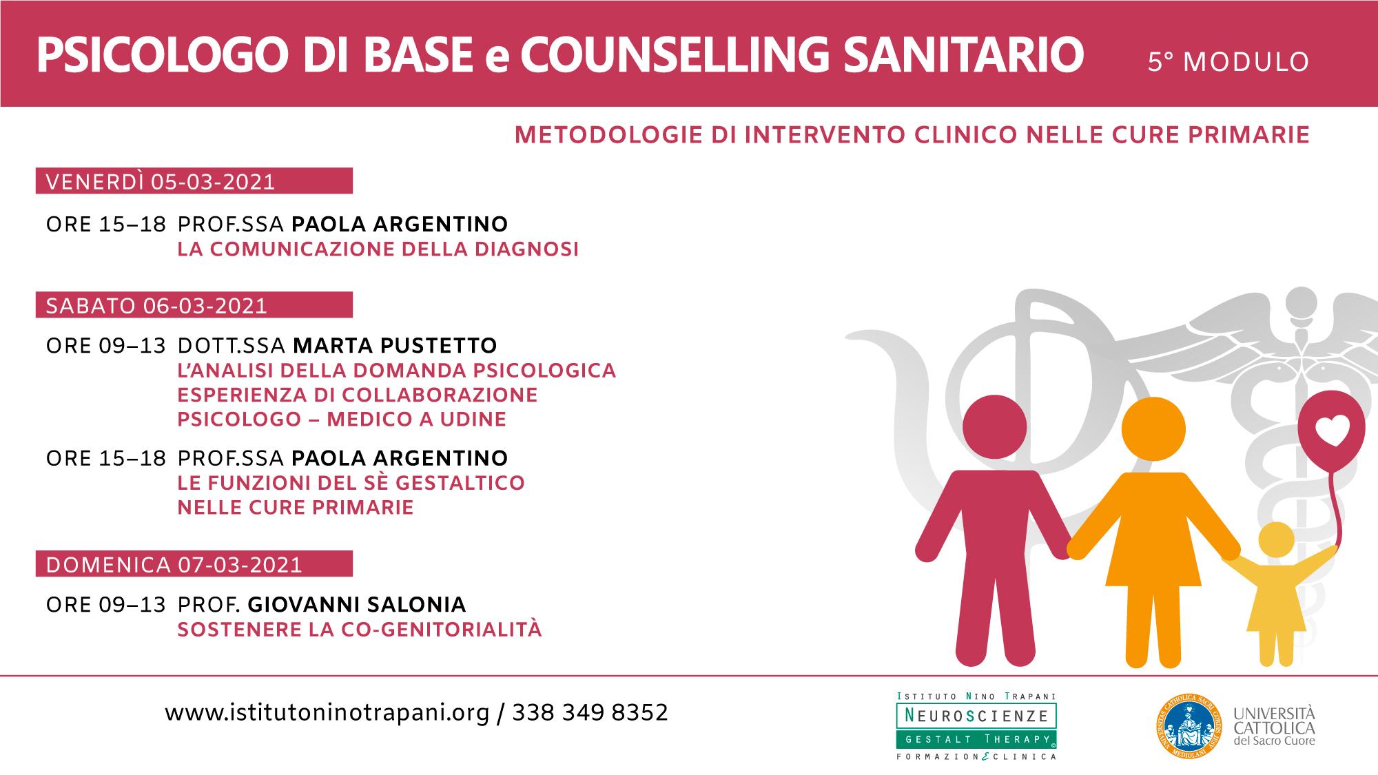 Psicologo di base e Counselling sanitario ed.1. Quinto modulo