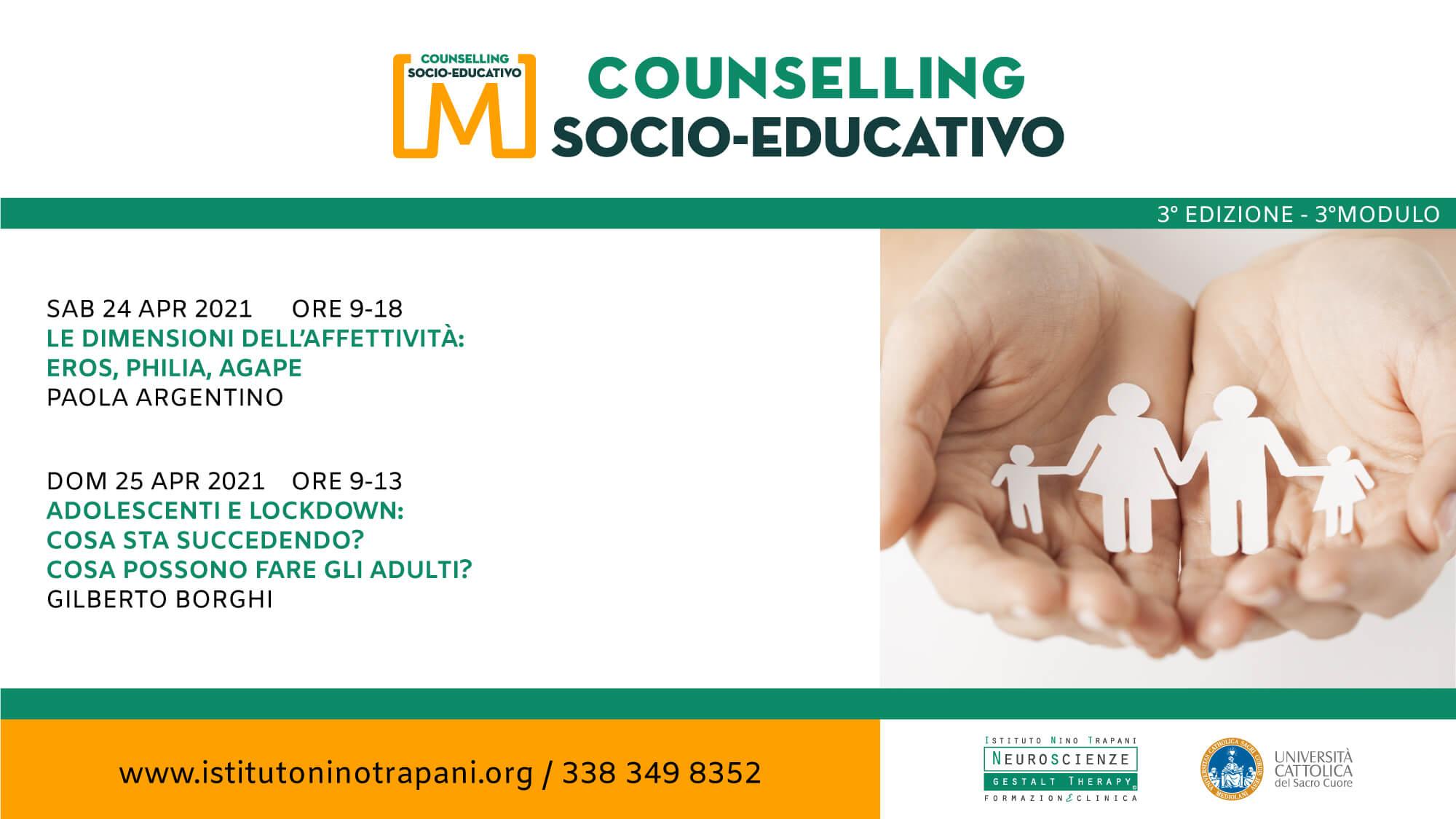 Master in Counselling socio-educativo ed. 3. Terzo Modulo