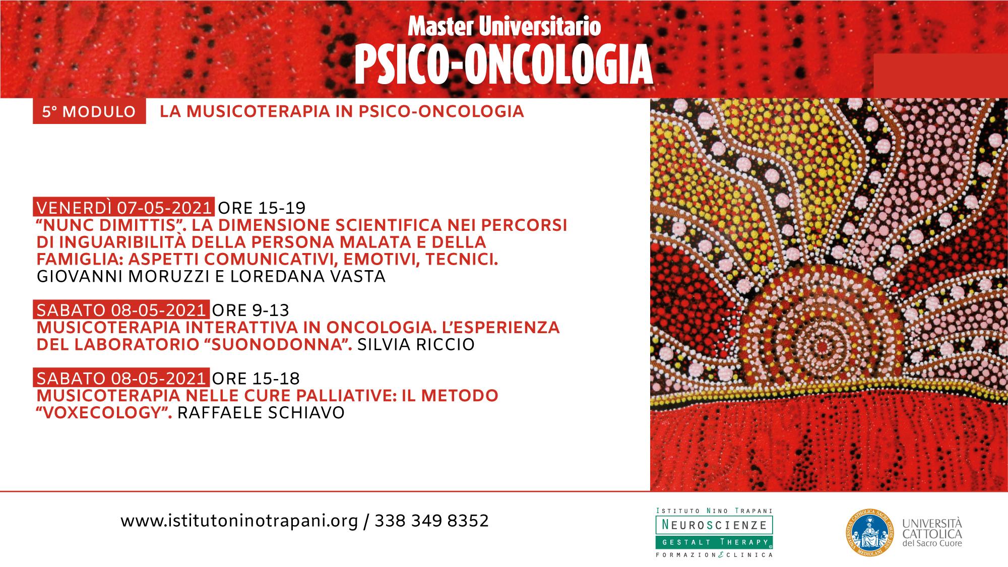 Master in Psico-Oncologia, ed. 25. Quinto Modulo